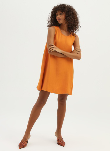 Quzu Elbise Oranj